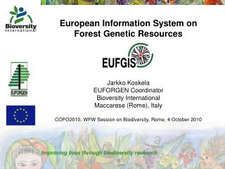 European Information System on  Forest Genetic Resources