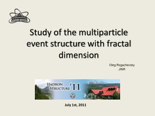 Study of the  multiparticle event structure  with  fractal dimension