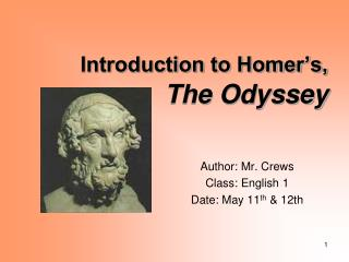 Introduction to Homer�s, The Odyssey