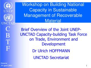 Workshop on Building National Capacity in Sustainable Management of Recoverable Material