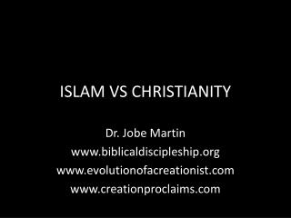 ISLAM VS CHRISTIANITY