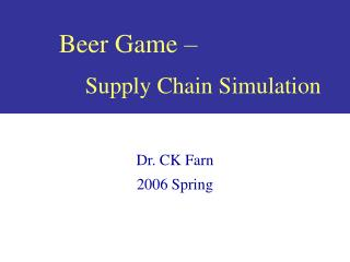 Beer Game – Supply Chain Simulation
