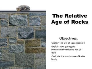 The Relative  A ge of Rocks