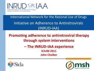 Promoting adherence to antiretroviral therapy through system interventions