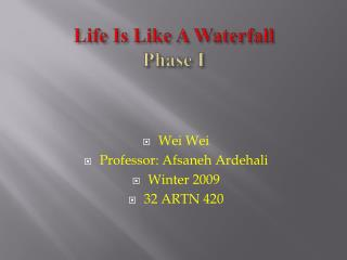 Life Is Like A Waterfall Phase I