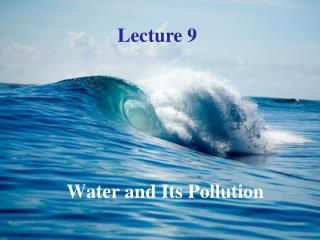 Water and Its Pollution