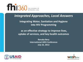 Integrated Approaches, Local Answers