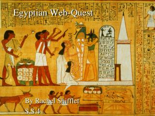 Egyptian Web-Quest