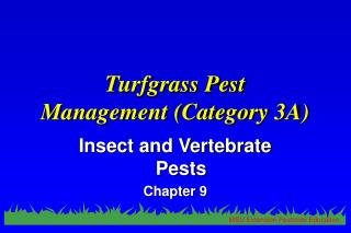 Turfgrass Pest  Management (Category 3A)