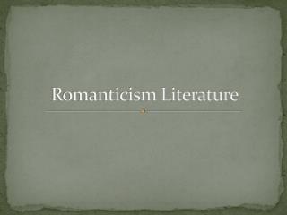 Romanticism Literature