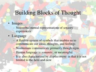 Building Blocks of Thought