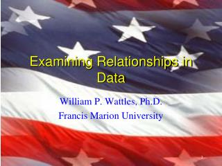 Examining Relationships in Data