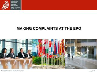 MAKING COMPLAINTS  AT THE EPO