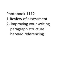 Assessment  of the  Module (as in the module guide)
