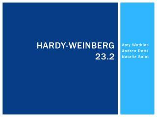 Hardy- weinberg 23.2