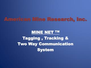 American Mine Research, Inc.