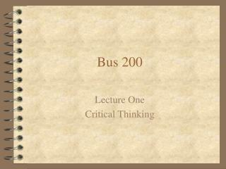 Bus 200