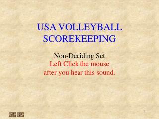 USA VOLLEYBALL SCOREKEEPING