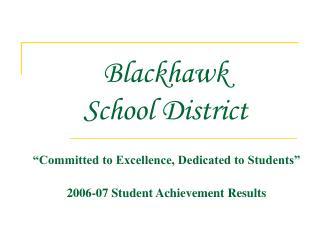 Blackhawk  School District