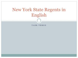 New York State Regents in English