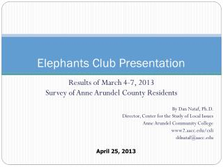 Elephants Club Presentation