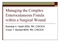 Managing the Complex Enterocutaneous Fistula within a Surgical Wound