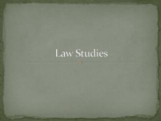 Law Studies