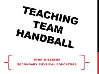 Teaching Team Handball