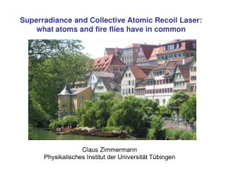 Superradiance and Collective Atomic Recoil Laser: what atoms and fire flies have in common