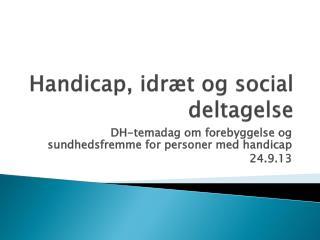 Handicap, idræt og social deltagelse