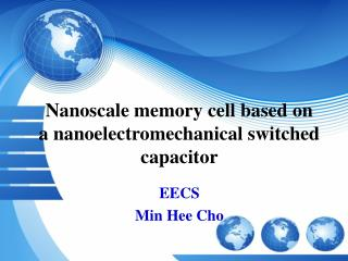 Nanoscale memory cell based on a nanoelectromechanical switched capacitor
