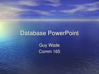 Database PowerPoint