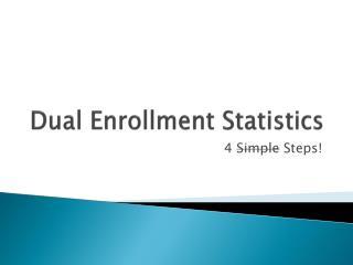Dual Enrollment Statistics