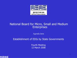 National Board for Micro, Small and Medium Enterprises Agenda item