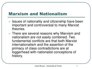 Marxism and Nationalism