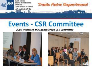 Events - CSR Committee
