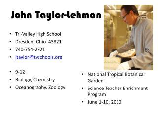 John Taylor-Lehman