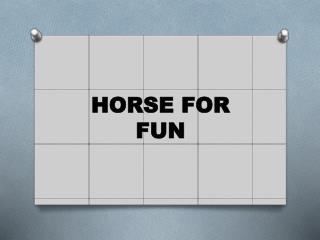 HORSE FOR FUN