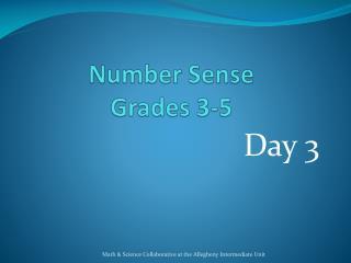 Number Sense Grades 3-5