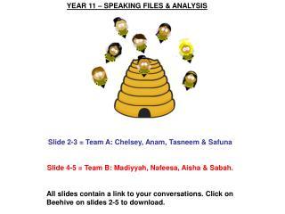 YEAR 11 – SPEAKING FILES & ANALYSIS