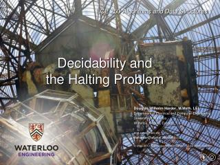 Decidability and the Halting Problem