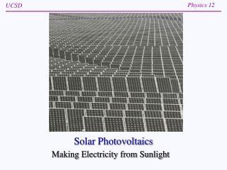 Solar Photovoltaics