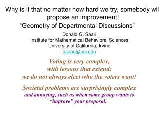 """Geometry of Departmental Discussions"""