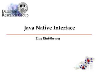 Java Native Interface