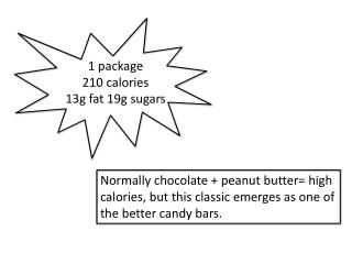 1 package 210 calories 13g fat 19g sugars
