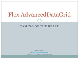 Flex  AdvancedDataGrid