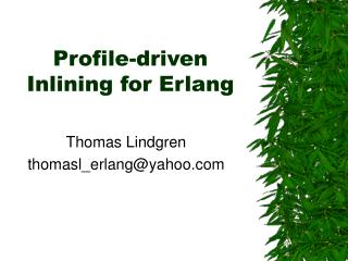Profile-driven Inlining for Erlang