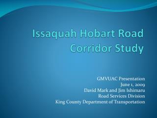 Issaquah Hobart Road Corridor Study