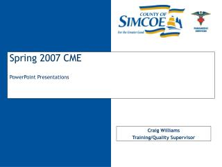Spring 2007 CME PowerPoint Presentations