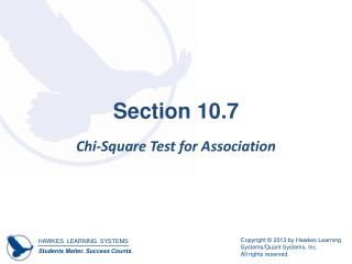 Section 10.7